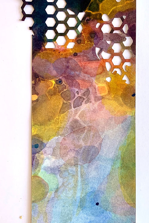"""Die-Cut, Watercolor Bookmark -3 (9"""" x 3"""")"""