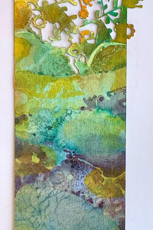 """Die-Cut, Watercolor Bookmark - 4 (9"""" x 3"""")"""