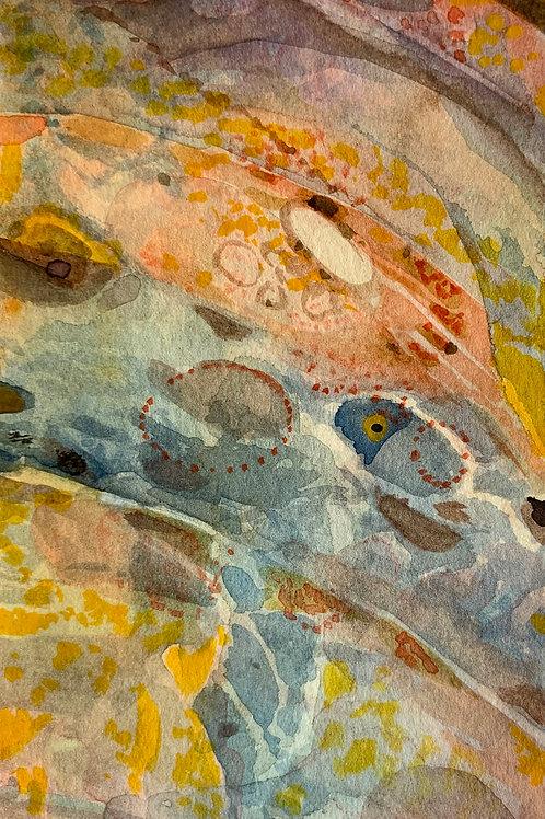 "Watercolor Bookmark -6 (6"" x 3"")"