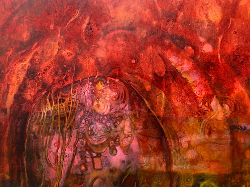 """Abstract Sanctuary (41"""" x 46"""")"""