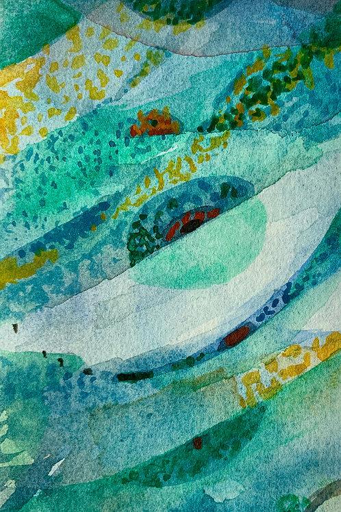 "Watercolor Bookmark - 4 (6"" x 3"")"