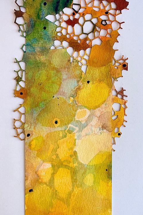 """Die-Cut, Watercolor Bookmark -6 (9"""" x 3"""")"""