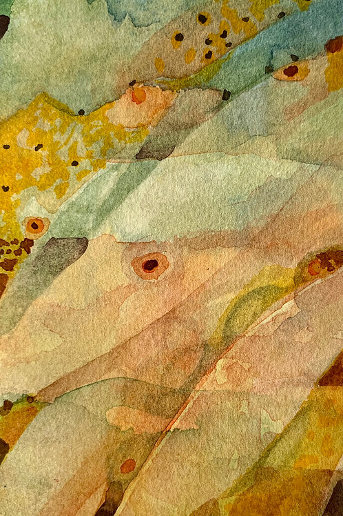 "Watercolor Bookmark -15 (6"" x 3"")"