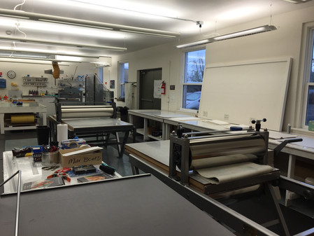 Printmaking at Crow's Shadow Institute for the Arts