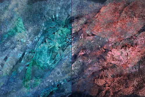"""Nothing but Space Between Us (36"""" x 72"""")"""