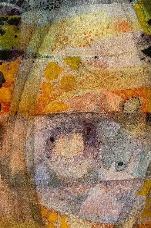 "Watercolor Bookmark -5 (6"" x 3"")"