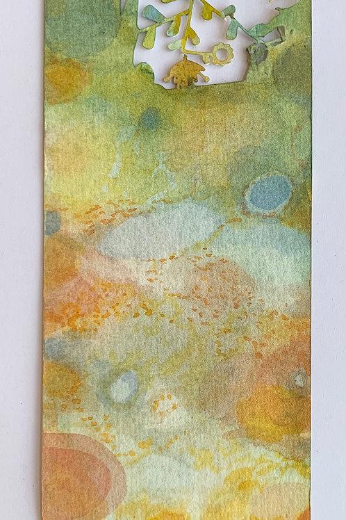 """Die-Cut, Watercolor Bookmark -7 (9"""" x 3"""")"""