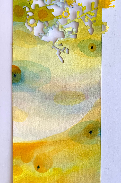 "Die-Cut, Watercolor Bookmarks -1 (8.5"" x 3"")"