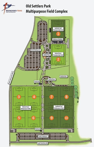 Old Settlers Park MultiPurpose Field Complex Diagram