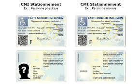 Trois mentions sont possibles sur la CMI : « priorité », « invalidité » et « stationnement ». Les avantages et les conditions d'attribution sont les mêmes que ceux des trois anciennes cartes remplacées par la CMI : la carte d'invalidité, la carte européenne de stationnement et la carte de priorité.