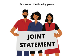 Our wave of solidarity will grow