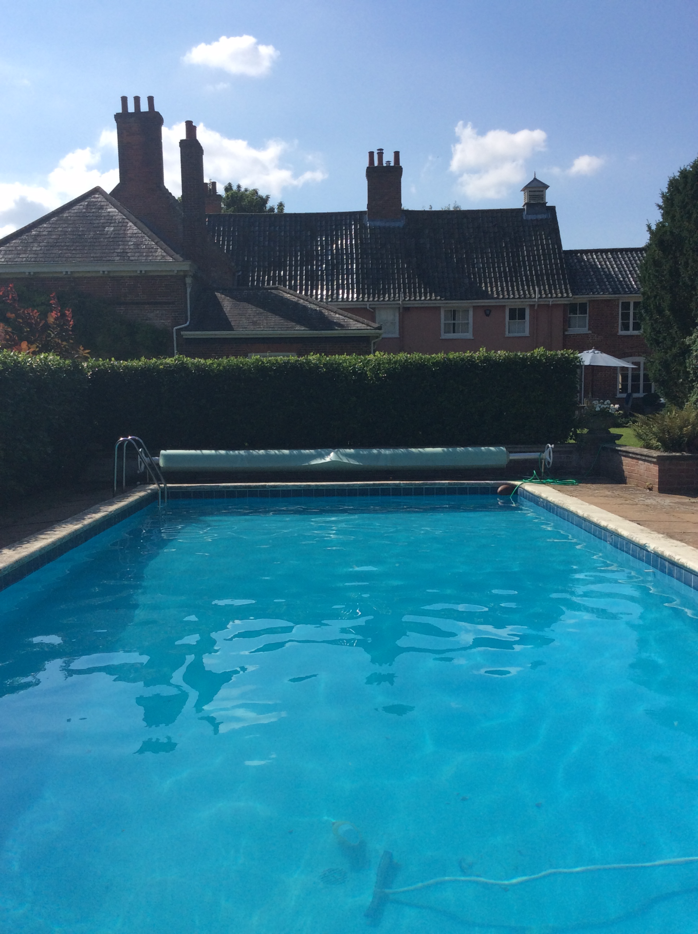 The heated outdoor swimming pool