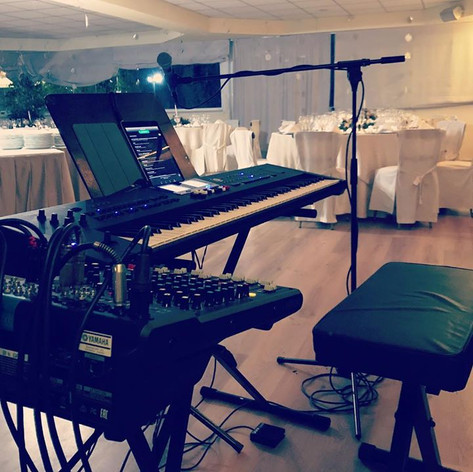 Let's the music play #livemusic #pianobar #musician #privateparty #keyboard #voice