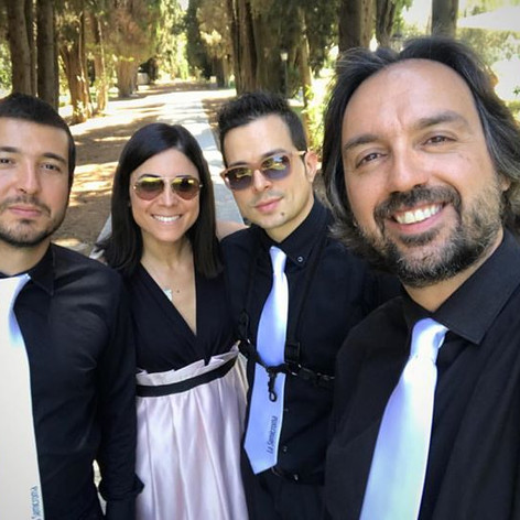 Wedding mode on !! #quartet #weddingplanner #sax #acousticbass #piano ___andrew_saxophonist _dreamingfra