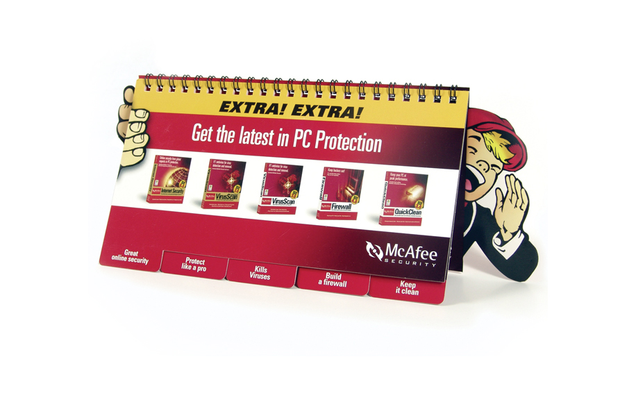 McAFEE PRODUCT FLIP BOOK