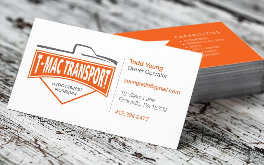 TMAC TRANSPORT BUSINESS CARD