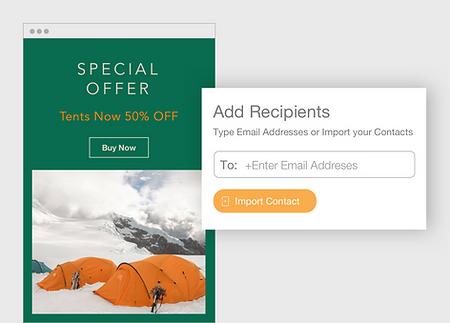 une campagne d'email pour un voyage en camping