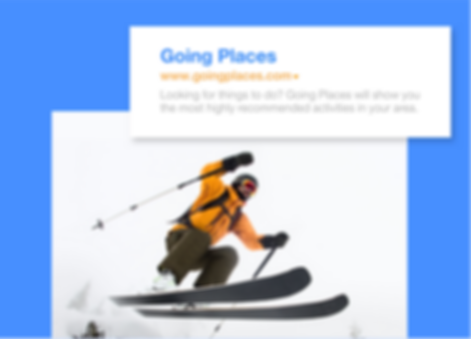 Ski instructor's website with a custom domain