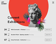 Website Strip for an Art Gallery with 3 Exhibitions