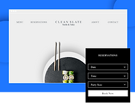 Sushi Restaurant Website Called Clean Slate