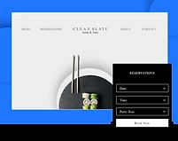 Sushi Restaurant Website Called Clean Slate