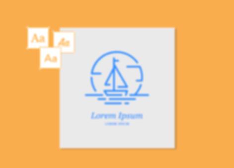 Logo for a sail shop