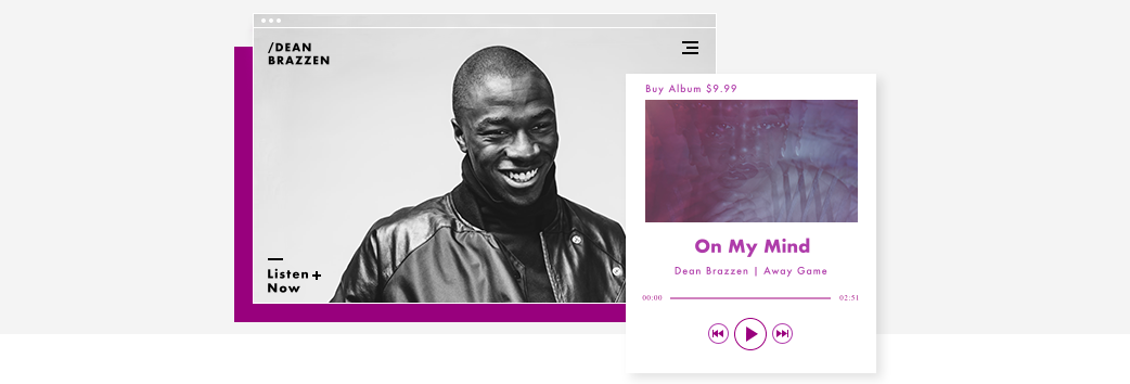 Music Website Displaying the Wix Music Player