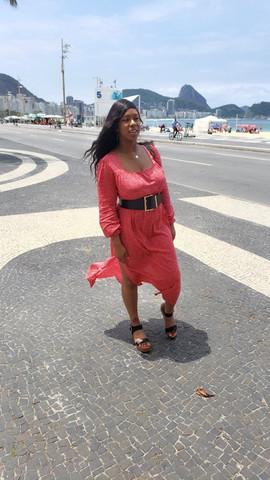 Flowy red dress