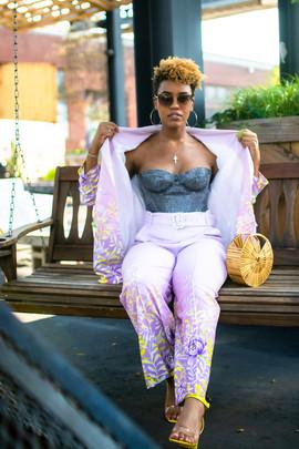 Pink Pantsuit Styling Corset