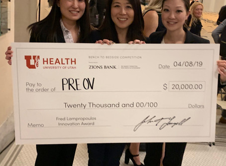 Layla (previously PreOv) wins Fred Lampropoulos Innovation Award at 2019 Bench to Bedside