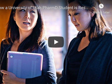 Young Hong featured in University of Utah College of Pharmacy News