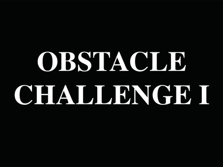 Obstacle Challenge 1