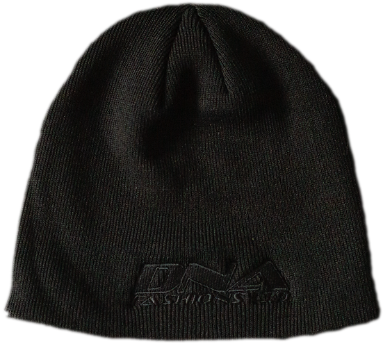 Embroidered Beanie Hat (Black)
