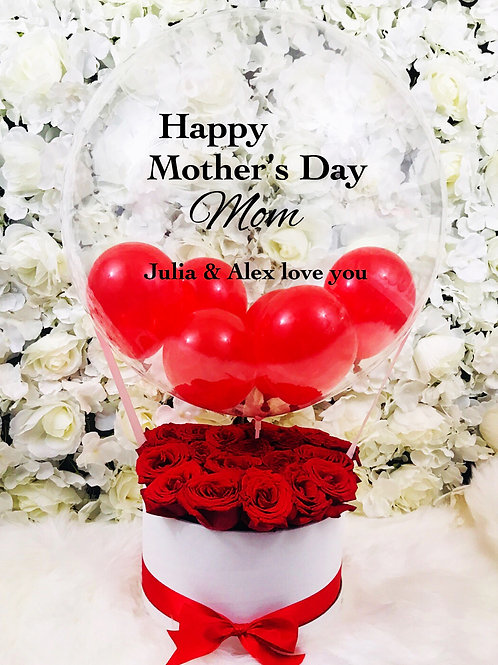 Mother's Day Balloon Rose Box