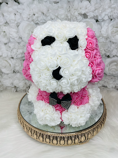 "13"" Belle Pink Rose Puppy"