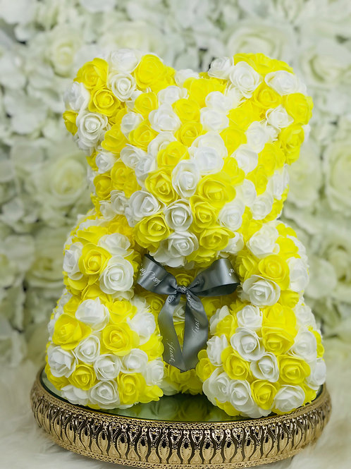 "15"" Belle Multi Yellow Rose Bear"