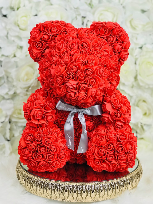"15"" Belle Red Rose Bear"