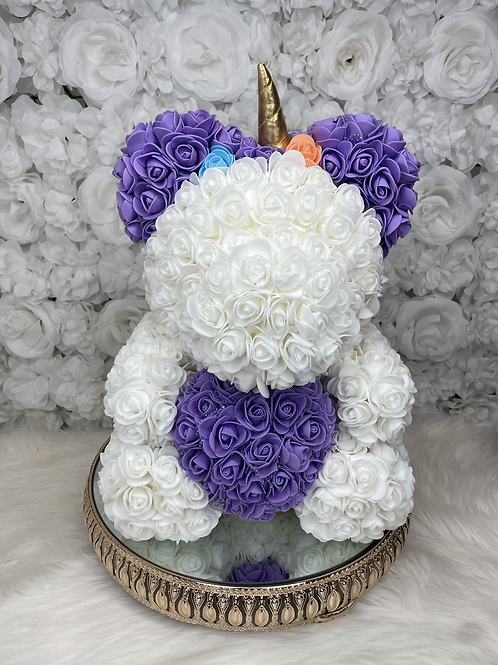 "15"" Belle Purple Rose Unicorn"