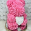"Thumbnail: 15"" Belle Pink White Heart Rose Bear"