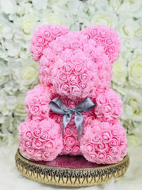 "15"" Belle Pink Rose Bear"