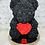 """Thumbnail: 15"""" Belle Black Red Heart Rose Bear"""