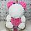 "Thumbnail: 15"" Belle  Pink Rose Unicorn"