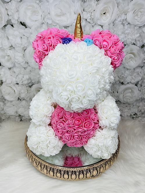 "15"" Belle  Pink Rose Unicorn"