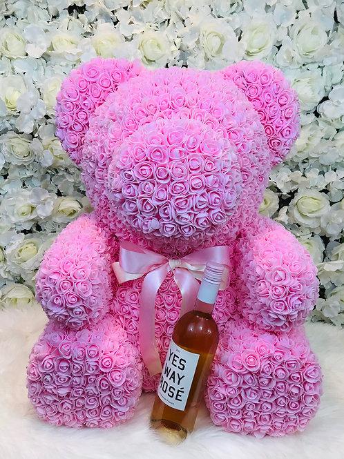 """28"""" Pink Rose Bear"""