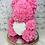 """Thumbnail: 15"""" Belle Pink White Heart Rose Bear"""