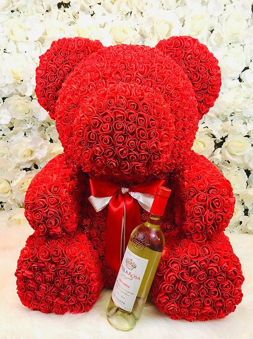 "28"" Red Rose Bear"