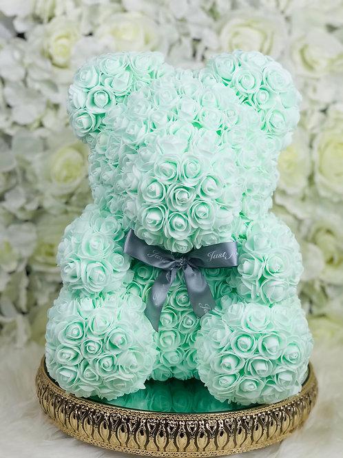 "15"" Belle Mint Rose Bear"