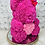 "Thumbnail: 15"" Belle  Fuchsia Pink Heart Rose Bear"