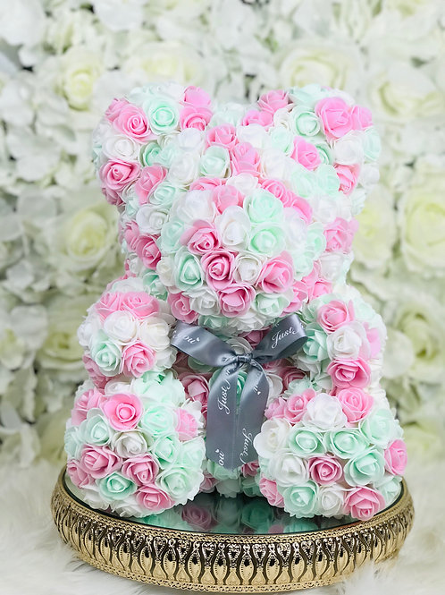 "15"" Belle Multi Pink Rose Bear"