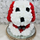 "Thumbnail: 13"" Belle Red Rose Puppy"
